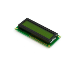 - 2x16 LCD Ekran Lehimli Yeşil