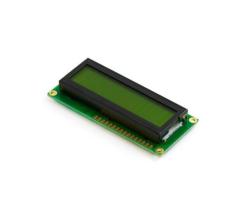 Çin - 2x16 LCD Ekran Lehimli Yeşil