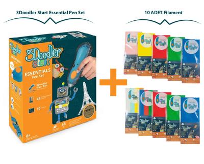 3Doodler Start Essential Pen Set + 10 Adet Filament