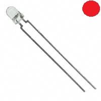 - 3mm Şeffaf Kırmızı LED