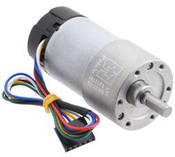 Pololu - Pololu 70:1 Metal Redüktörlü Motor 37Dx70L mm 12V, 64 CPR Enkoderli PL-4754