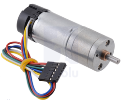 Pololu - 9.7:1 Metal Redüktörlü Motor 25Dx63L mm LP 12V, 48 CPR Enkoderli PL-4882