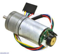 Pololu - 9.7:1 Metal Redüktörlü Motor 25Dx63L mm HP 12V - 48 CPR Enkoderli PL-4842
