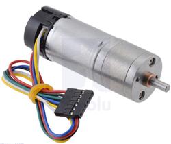 Pololu - 99:1 Metal Redüktörlü Motor 25Dx69L mm HP 12V, 48 CPR Enkoderli PL-4847