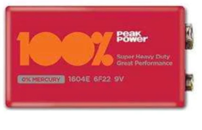 9V Pil Peak Power (Kırmızı)