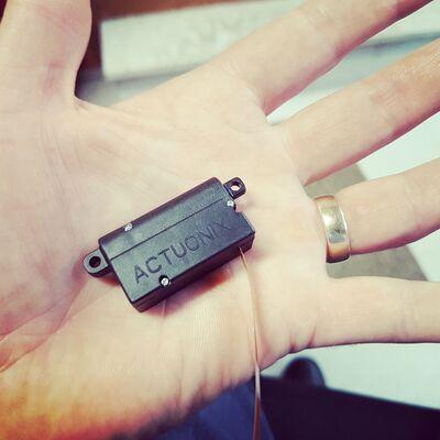 Actuonix PQ12-63-12-S, Ultra Küçük Lineer Aktüatör - Limit Switch, 12V, 15g