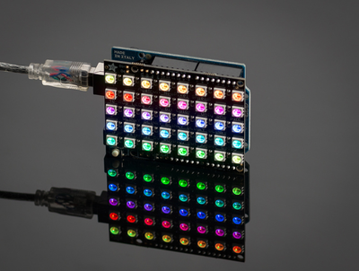 Adafruit NeoPixel Shield for Arduino - 40 RGB LED Pixel Matrix