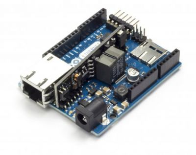 Arduino Ethernet Rev3 PoE modülüyle birlikte
