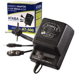 Ataba - Ataba At-500 3-12V 500Mah Kademeli Adaptör