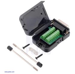 Pololu - MCP23X-26X Gelişmiş Motor Denetleyiciler için DB15 Vidalı Terminal Adaptörü
