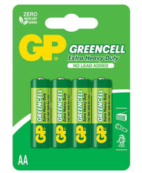 - GP Greencell 1.5V 4'lü