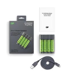 GP X411 4x2600mAh USB Şarj Cihazı ve Powerbank - Thumbnail