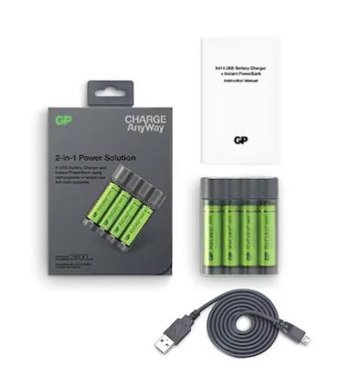 GP X411 4x2600mAh USB Şarj Cihazı ve Powerbank