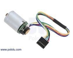 Pololu - Pololu 25D Metal Redüktörlü Motor Yapısına Uygun 48 CPR Enkoderli 12V Motor