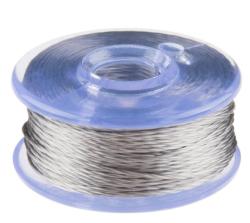 Sparkfun - Conductive Thread Bobbin - 12m (Smooth, Stainless Steel) - İletken İplik Makarası ( 12m - Düz, Paslanmaz Çelik )