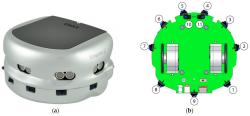 Khepera III K3 Robot + Korebot 2 Kartı - Swarm / Sürü Robotları - Thumbnail