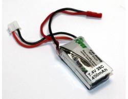 - LIPO 7,4V 450mAh Li-Po Batarya 25C