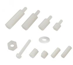Çin - M3x15 Dişi/Dişi Plastik Distans Beyaz