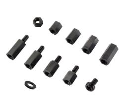Çin - M3x8 Dişi/Dişi Plastik Distans Siyah