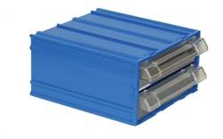 Mano - Mano Mk-31 Plastik Çekmeceli Kutu, Mavi, 110 mm x 120 mm x 62 mm