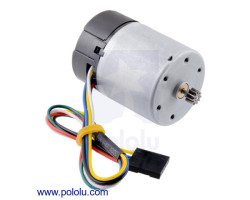 Pololu - Motor with 64 CPR Encoder for 37D mm Metal Gearmotors (No Gearbox)