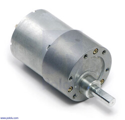 Pololu - Pololu 131:1 Metal Redüktörlü Motor 37Dx57L mm 12V 76rpm PL-1107
