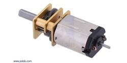 Pololu - Pololu 210:1 Micro Metal Redüktörlü DC Motor HP 6V - Dual Şaft PL-2216