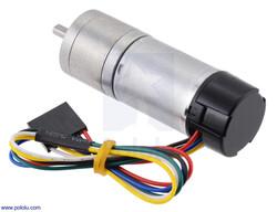 Pololu - Pololu 4.4:1 Metal Redüktörlü Motor 25Dx63L HP 6V, 48 CPR Enkoderli PL-4801