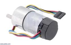 Pololu - Pololu 50:1 Metal Redüktörlü Motor 37Dx70L HP 12V, 64 CPR Enkoderli PL-4753