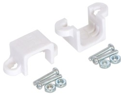 Pololu - Pololu Redüktörlü Mikro Metal Motor için Montaj Aparatı Çifti - Beyaz