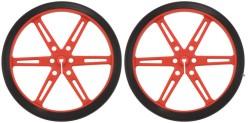 Pololu - Pololu Tekerlek 80 × 10mm Çifti - Kırmızı