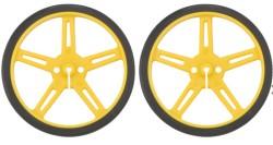 Pololu - Pololu Tekerlek Çifti 70x8mm, Sarı