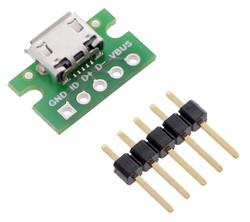 Pololu - Pololu USB Micro-B Konektör Breakout Karti PL-2586