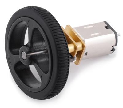 Tekerlek Çifti 32×7mm - Siyah Renk PL-1087