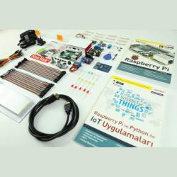 - Raspberry Pi 3 B+ IoT Eğitim Seti