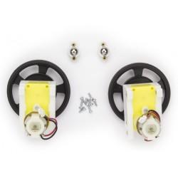 Arduino - Robot Motor-Tekerlek Seti