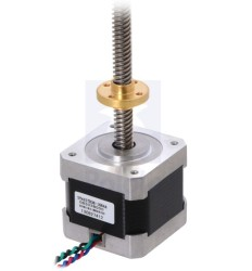 Pololu - Step Motor: Bipolar, 200 Adım / Devir, 42×38mm, 2.8V, 1.7 A/Faz, 28cm Kurşun Vidalı