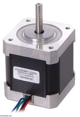 Step Motor: Unipolar-Bipolar, 200 Adım/Devir 42×48mm, 4V, 1.2 A/Faz PL-1200
