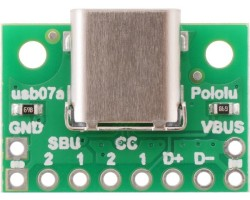 Pololu USB 2.0 Tip-C Konektör Breakout Kartı PL-2585 - Thumbnail
