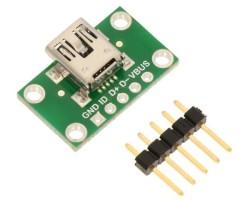 Pololu - USB Mini-B Connector Breakout Board